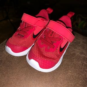 Red Nike size 3 infant like new